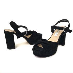 Kristin Cavallari Ryne Suede Platform Heel Sandals